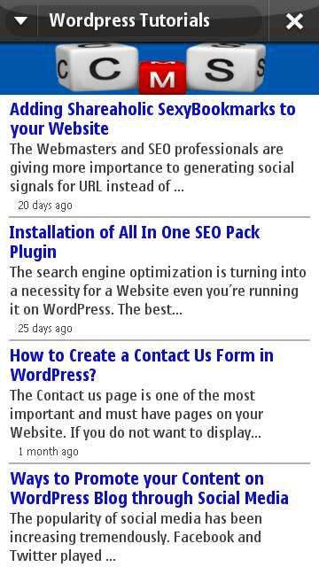 Blog WordPress Tutorial Nokia Ovi App