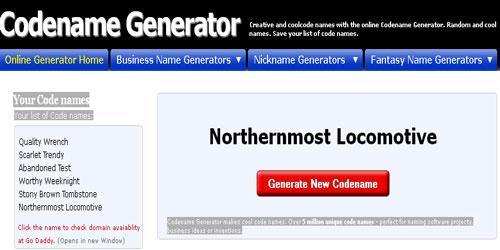 Codename Generator