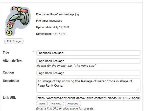 adding an image in WordPress