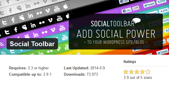 Social Toolbar- Free WordPress Plugin