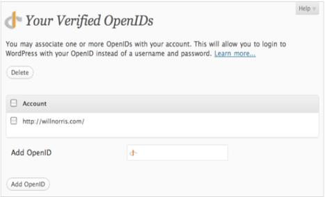 OpenID Comment Form plugin