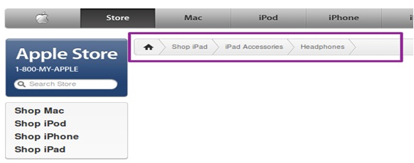 Apple.com like Breadcrumb in WordPress