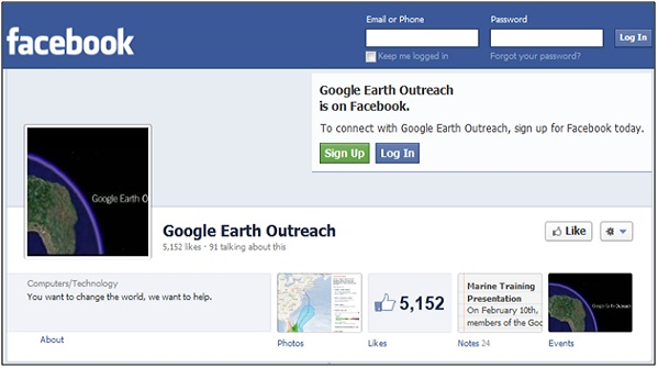 Earth Outreach Facebook