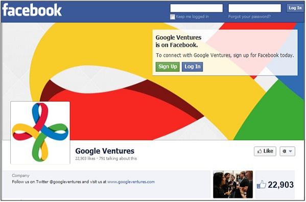 Google Ventures Facebook