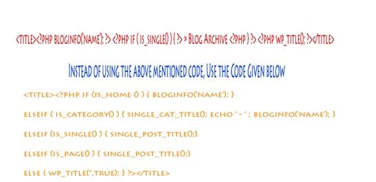 Optimizing WordPress title