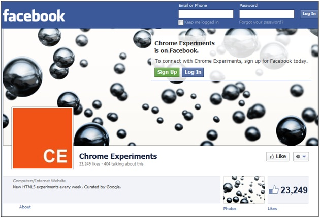 Chrome Experiments Facebook