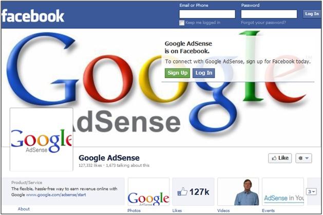 Google AdSense Facebook
