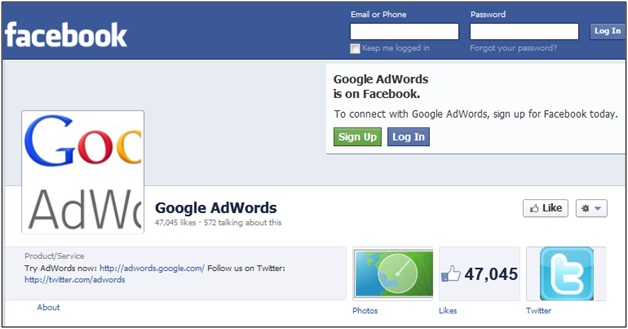 Google AdWords Facebook
