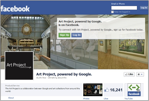 Google Art Project Facebook