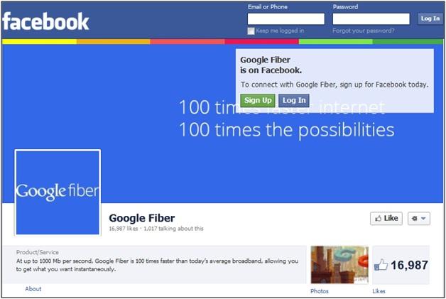 Google Fiber Facebook