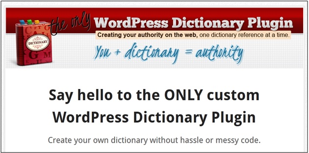 WordPress Dictionary Plugin