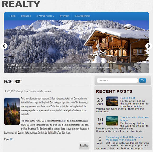 Realty Real Estate Theme