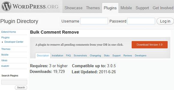 Bulk Comment Remove