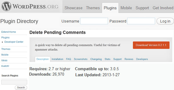 Delete Pending Comments