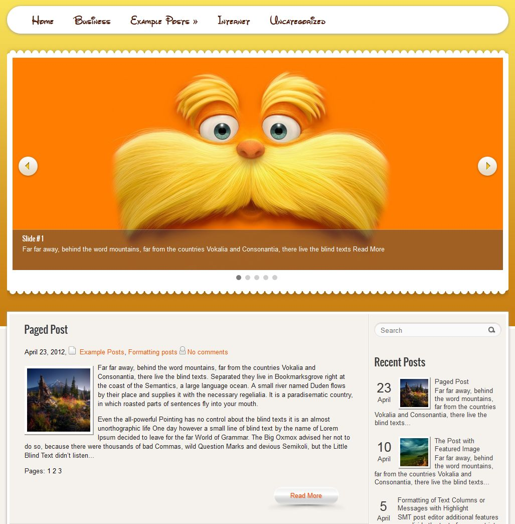 WPCartoons WordPress Theme