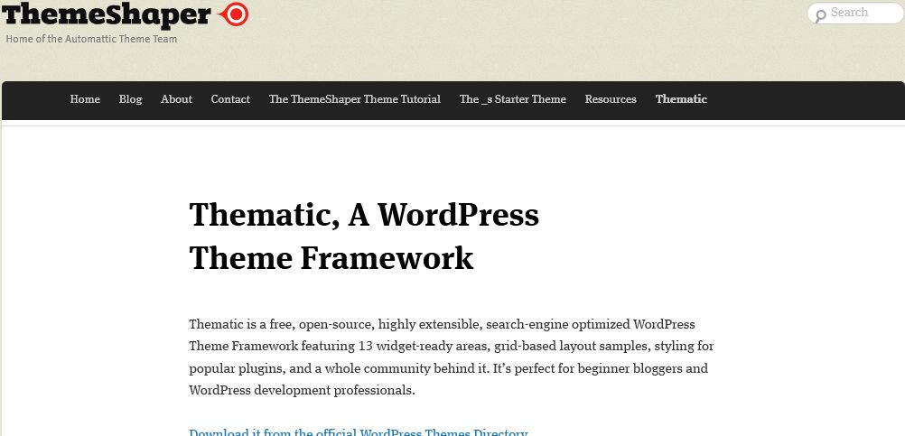 Thematic - WordPress Theme Framework