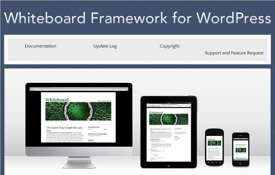 Whiteboard - WordPress Theme Framework