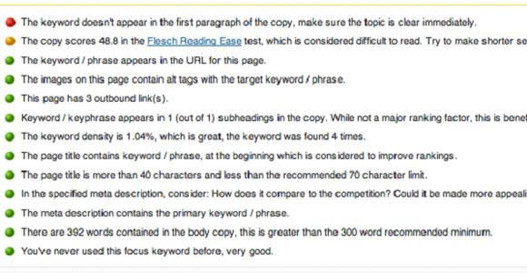 Yoast - WordPress-Post-Optimization