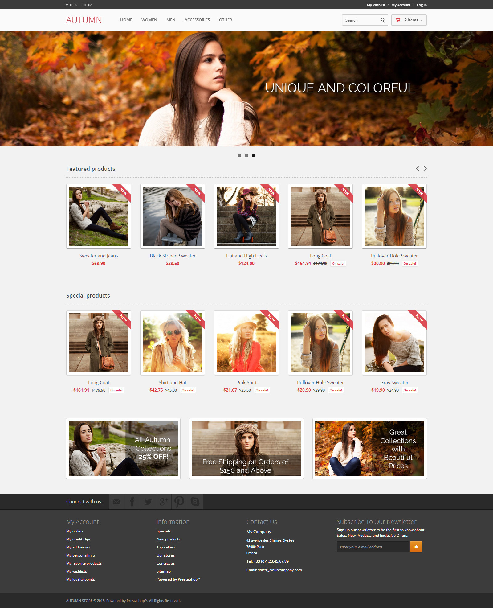 Autumn - Free eCommerce Theme