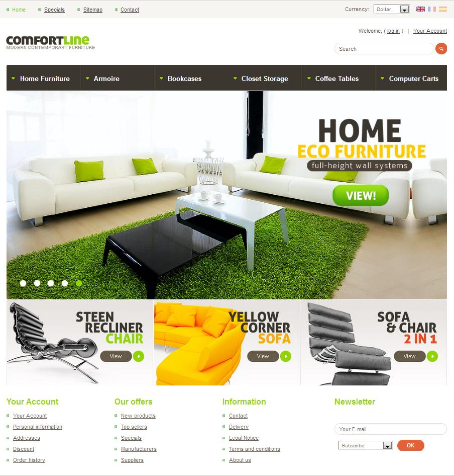 ComfortLine - Prestashop eCommerce Theme