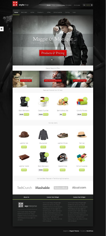 StyleShop - eCommerce Theme