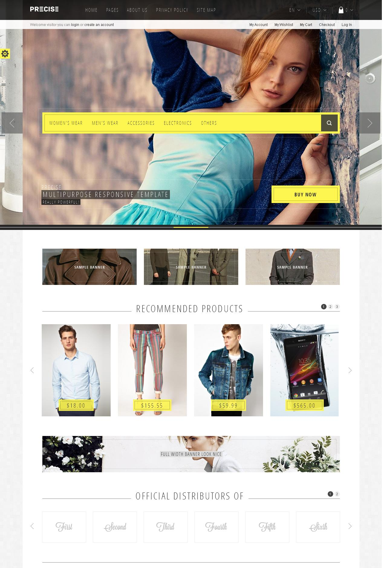 precise - Magento eCommerce Theme