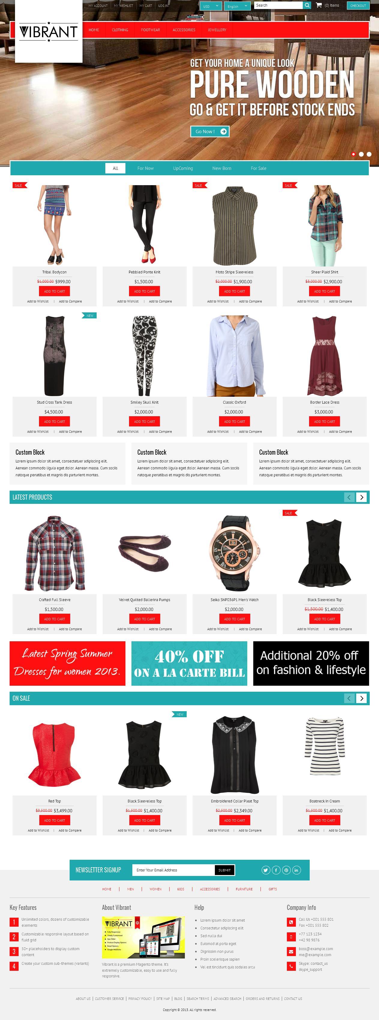 Vibrant - Magento eCommerce Theme