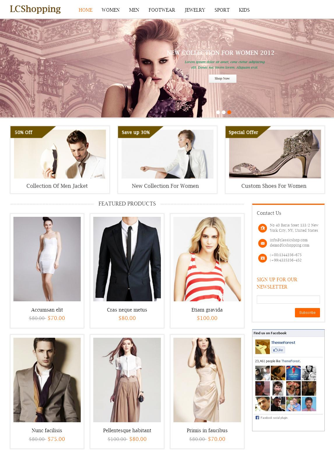 LC shopping - Magento eCommerce Theme