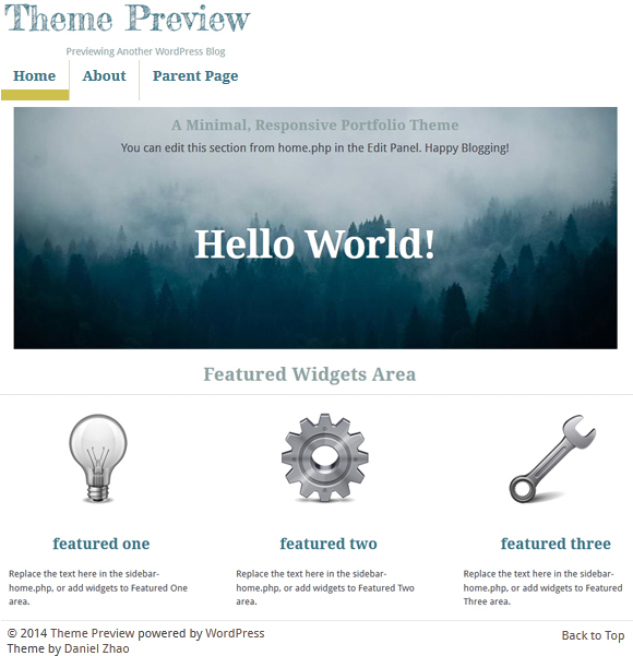 Pilot Fish - Free WordPress parallax theme