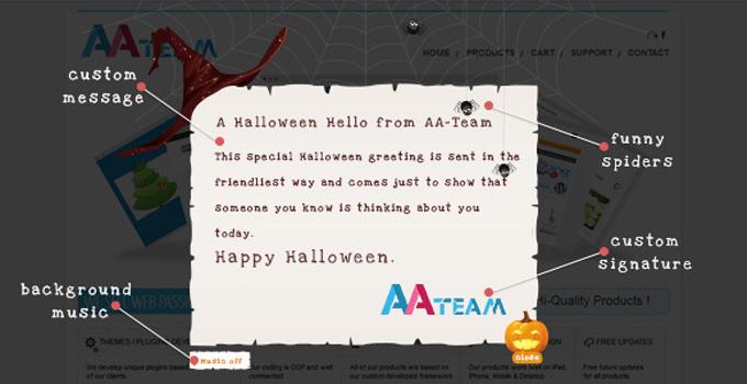 Halloween Pop Up Card - WordPress Plugin