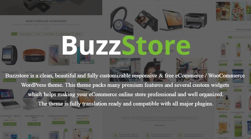 BuzzStore WordPress Theme