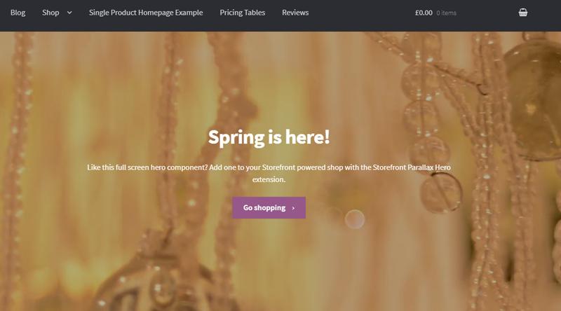 StoreFront WordPress Theme