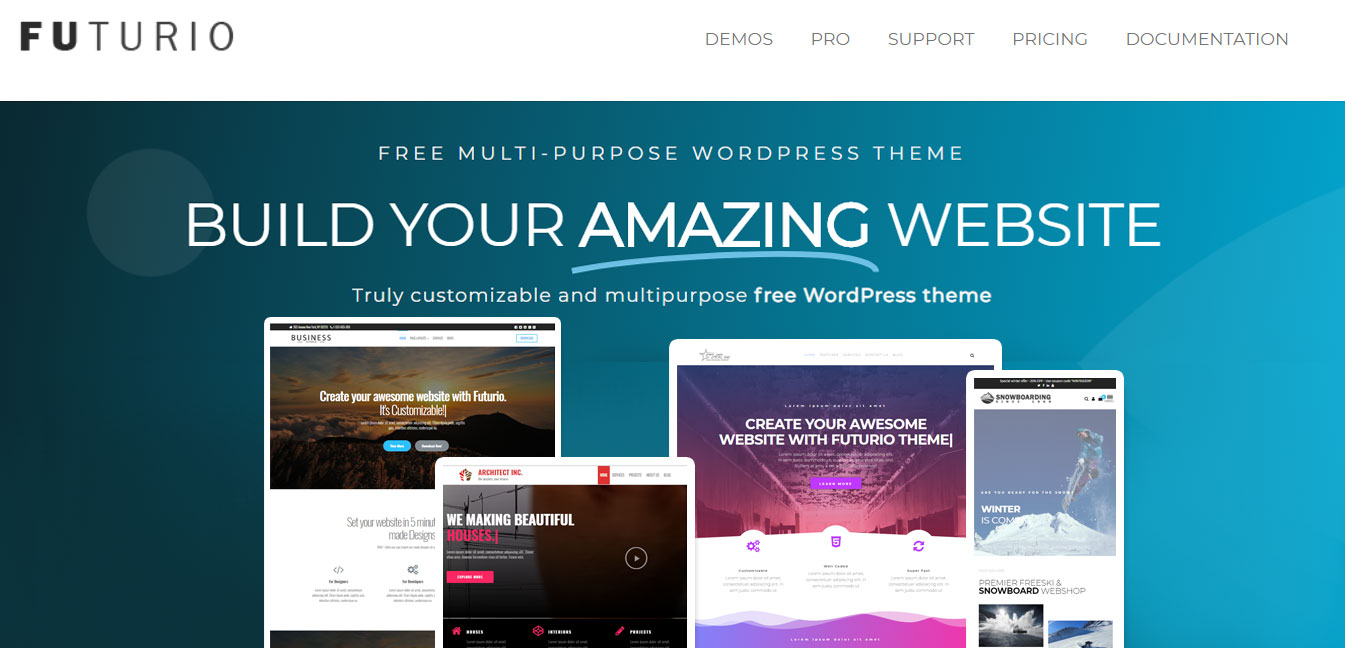Futurio - Free WordPress Customizable Theme