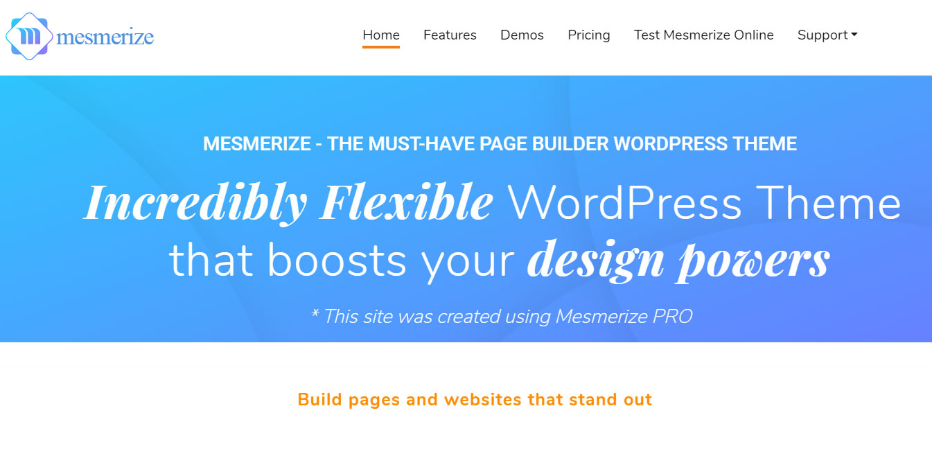 Mesmerize - Free WordPress Customizable Theme