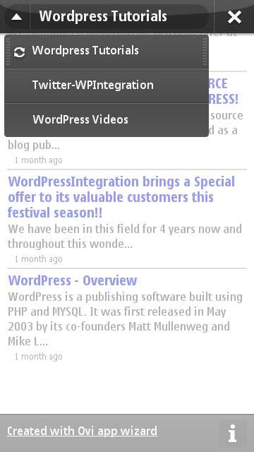 WordPressIntegration Is Now Available On Nokia Mobile
