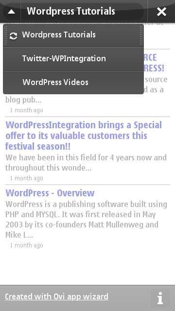 Channels in Blog WordPress Tutorial App