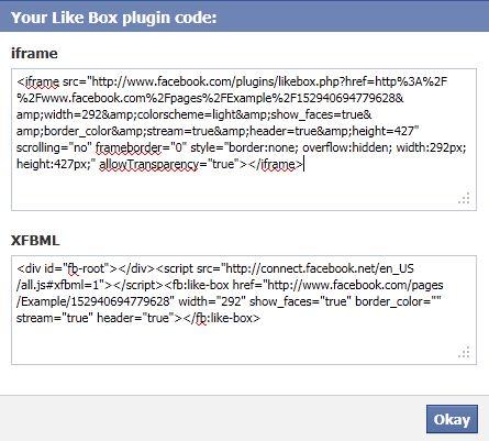 Facebook Like Box Plugin Code