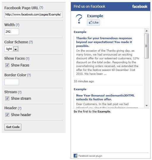 Facebook Like Box Creation