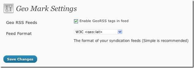Preview of Geo Mark Settings