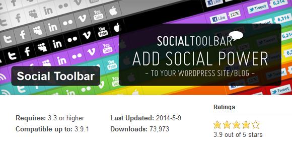 Social Toolbar- Free WordPress Plugin