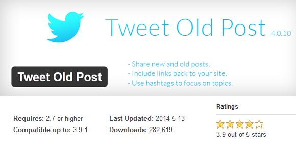 Tweet Old Post- Free WordPress Plugin