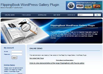 Flipping book plugin