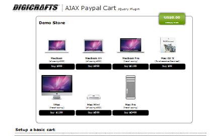 JS AJAX PayPal Cart plugin