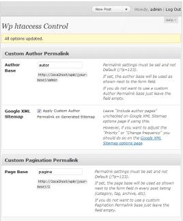 Preview of  WP htaccess control  extension