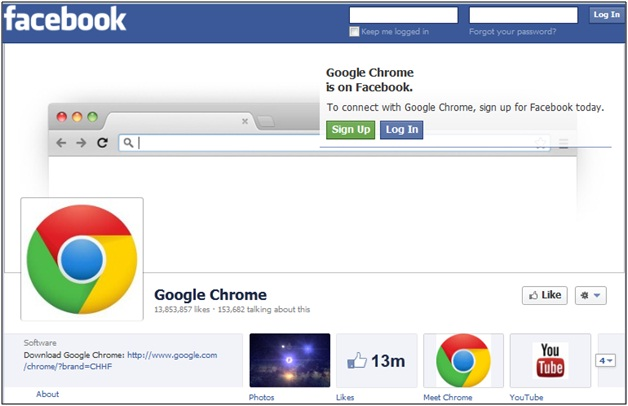 Google Chrome Facebook