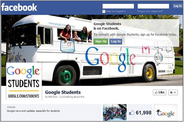 Google Students Facebook