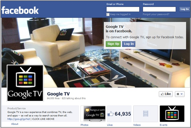 Google TV Facebook