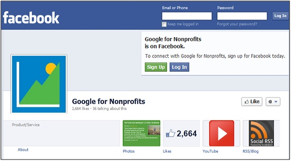 Google For Nonprofits Facebook
