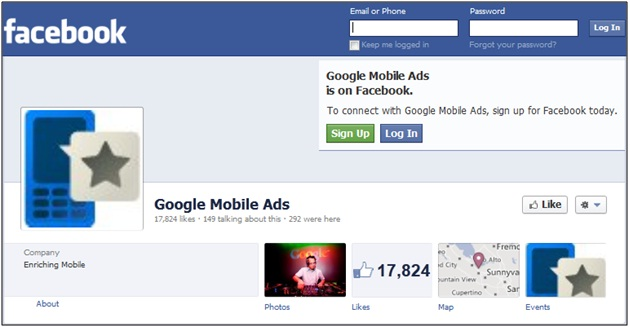 Google Mobile Ads Facebook