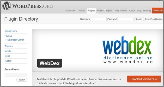 WebDex plugin